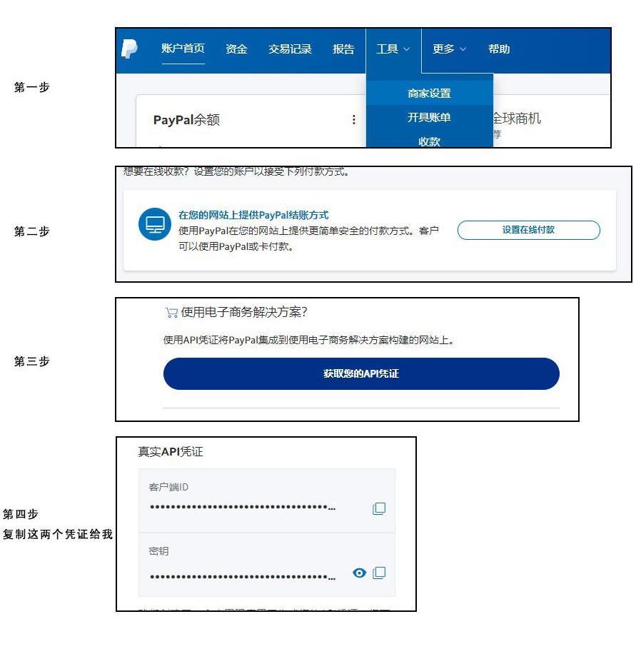 paypal凭证获取流程